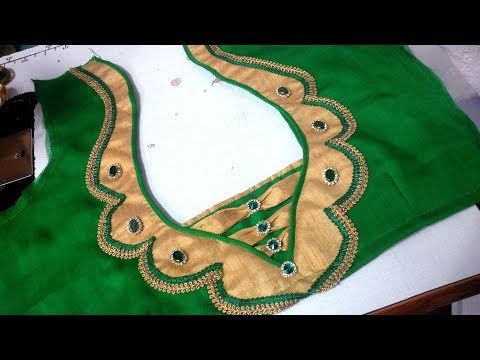 easy  blouse design cutting and stitching at home 2017 - YouTube