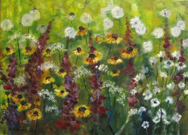 Łąka,50x70,oil