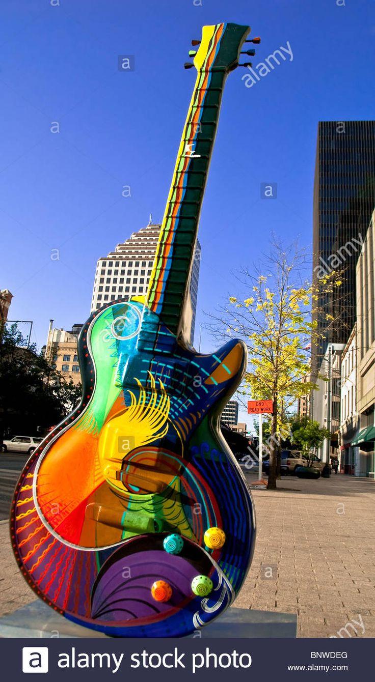 The great outdoors austin congress - Vibrancy A 10 Foot Guitar Sculpture By Craig