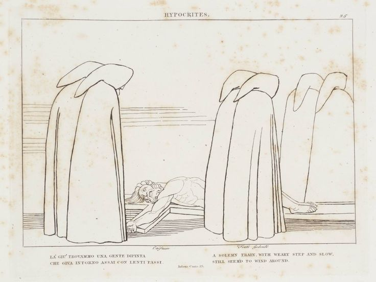 """Hypocrites"" John Flaxman, 1807, from The Divine Comedy of Dante Alighieri"