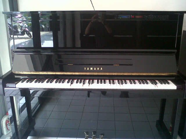 """Upright Player Piano,   Yamaha's award-winning U1 48"""" piano married with Disklavier reproducing technology. It's a player and a MIDI piano! Imagine an acoustic upright piano with unlimited capabilities!!!  Model: MX-100 Finish: Polished Ebony Size: 48"""" Good Condition Second-Hand  Contact us for more information about this piano. 0812.938.0852"""