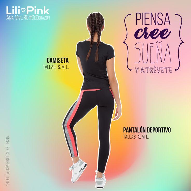 #LiliTips: Aumenta la resistencia y no las repeticiones en tus ejercicios para conseguir unas piernas tonificadas. Encuentra esta camiseta a $19,900 y pantalón deportivo a $29,900. Ama, Vive, Ríe #DeCorazon