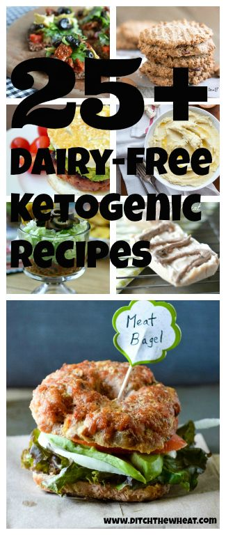 25+ Dairy-Free Ketogenic Recipes- I'm ok with dairy, but I have a really good friend that isn't. lol