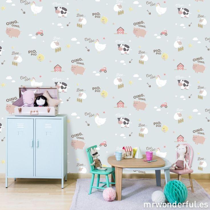 #wallpaper #behang #dieren #platteland | mrwonderfulshop