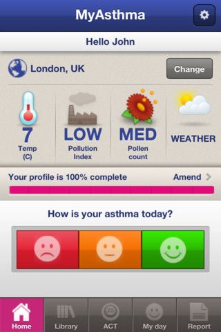myAsthma App //   MyAsthma is a programme that provides services, information and support that can help those with asthma to take control of their condition