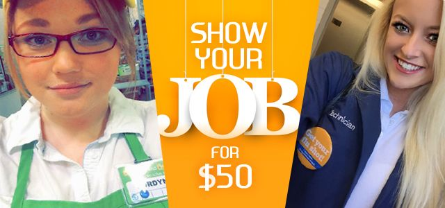 Prize: $50 Gift Card of your choice    Theme: Selfie of your job or student life