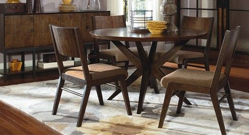 A bit rustic, and a lot luxury design - this collection, Kateri, is contemporary dining room furniture with the look you've been after
