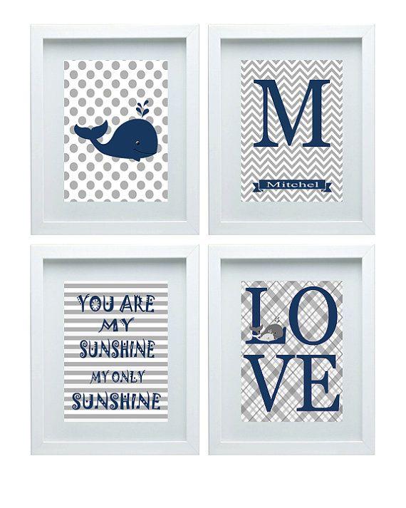 Nursery prints whale : Whale nursery art print