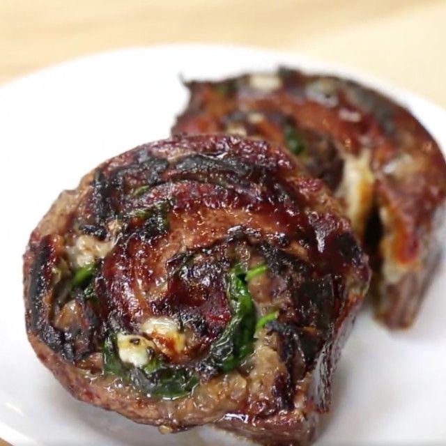 Stuffed Steak Rolls
