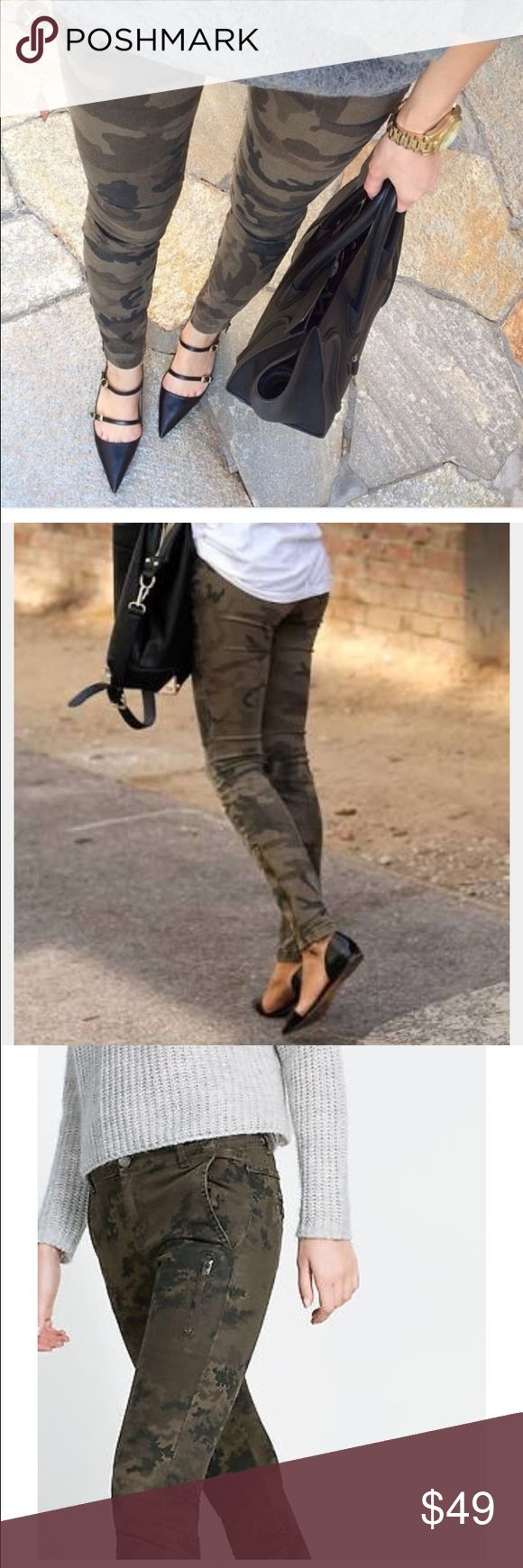 Zara Woman Camouflage jeans Bought this 2-3 seasons ago, still in good condition not fitting me anymore, size is Eur 40, US 8 Zara Jeans Skinny