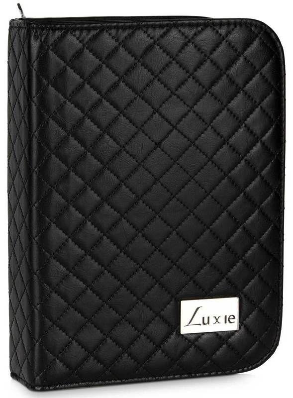 Luxie Black PRO Makeup Brush Book Case
