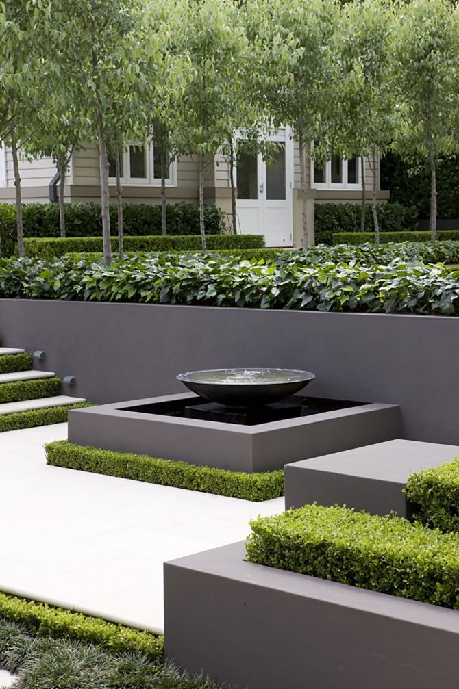 Modern Garden Design modern garden design with pond Peter Fudge Criador De Espaos Etreos Grey Gardensformal Gardenscontemporary