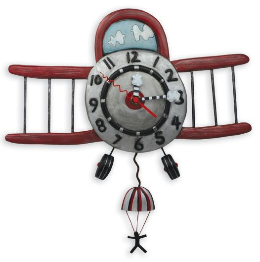 Allen Designs Airplane Clock available at Edwin's in Franklin, MA