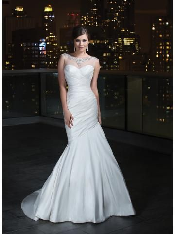 Nadměrné velikosti Taft Zip Svatební šaty 2014