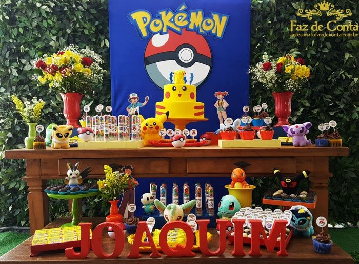 decoração festa pokemon