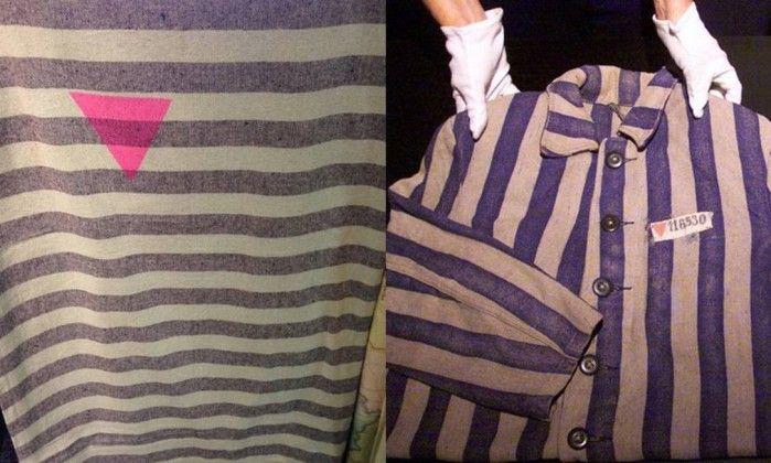 Empresa é criticada por vender roupas similares às usadas por judeus gays no Holocausto +http://brml.co/1AfqCBV