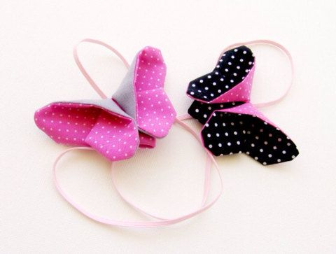 Fabric origami butterfly headband by Bellaandco on Etsy, $9.00