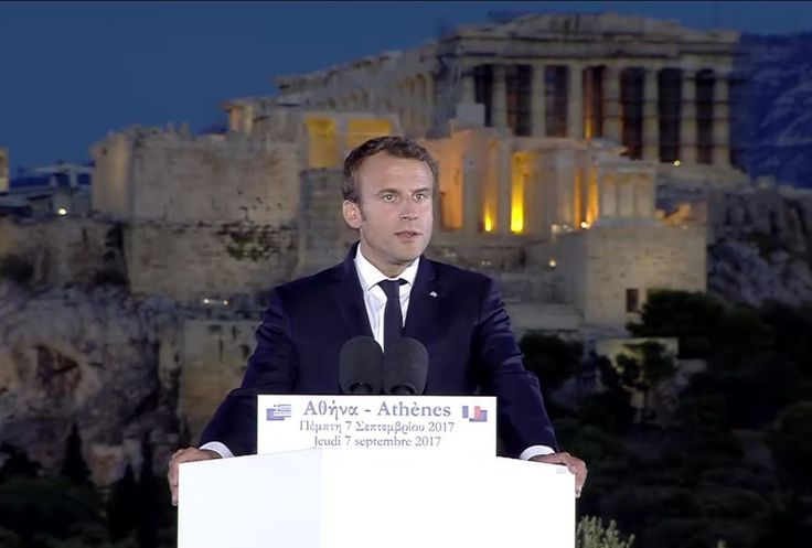 Macron, French Companies Give Vote of Confidence to Greek Economy.