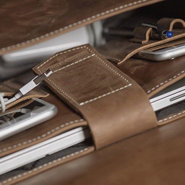 Kožený batoh - světle hnědý