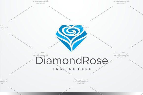 Diamond Rose Logo by yopie on @creativemarket