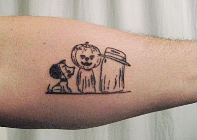 Cute Halloween Tattoos | ... tattoo to celebrate his birthday i have never actually seen a tattoo