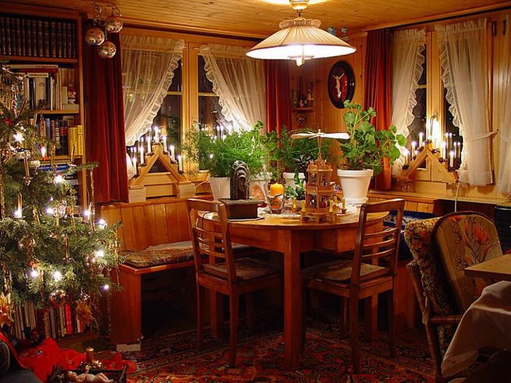 Image Detail For Rustic Christmas Living Room Decoration