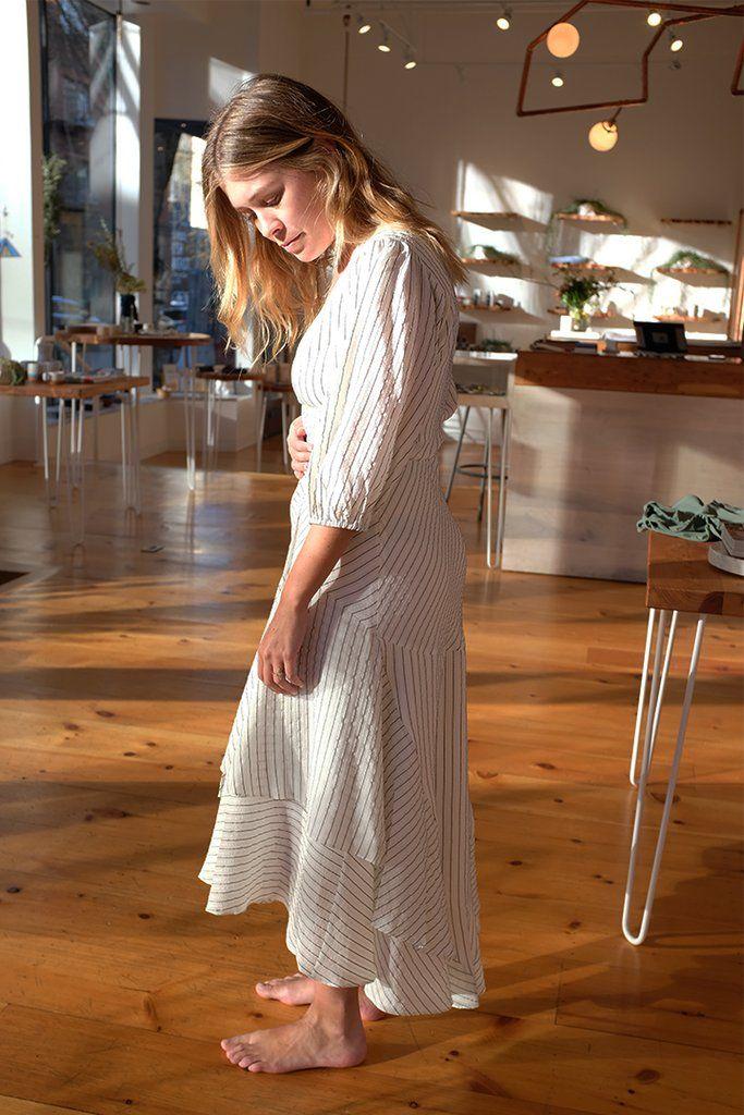 7c95bcf5 Wilkie Seersucker Dress, Vanilla Ice by Ganni | WM GANNI ...