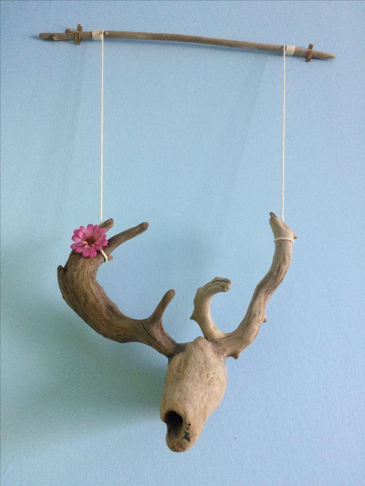 Driftwood Deer Head.