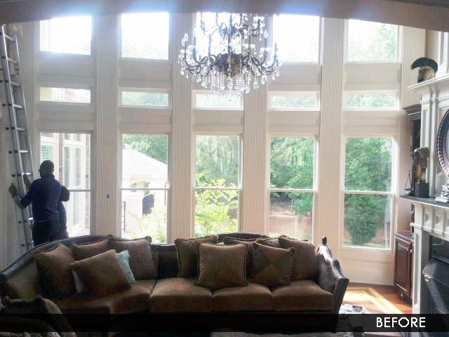 TWO STORY WINDOW TREATMENTS FOR ARCHED WINDOWS Part 58