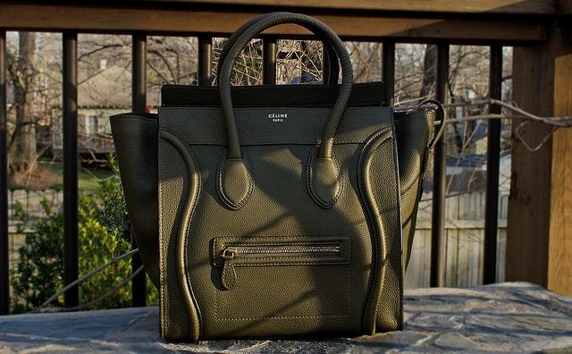 celine olive mini luggage