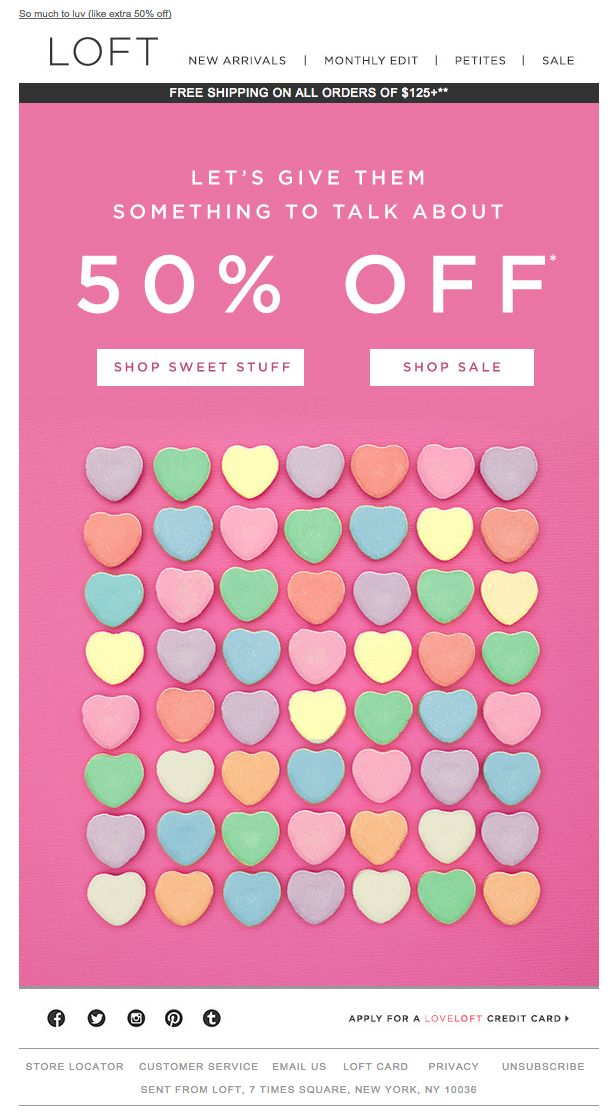 The Loft Valentine S Day Email 2015 Email Holiday Valentine S