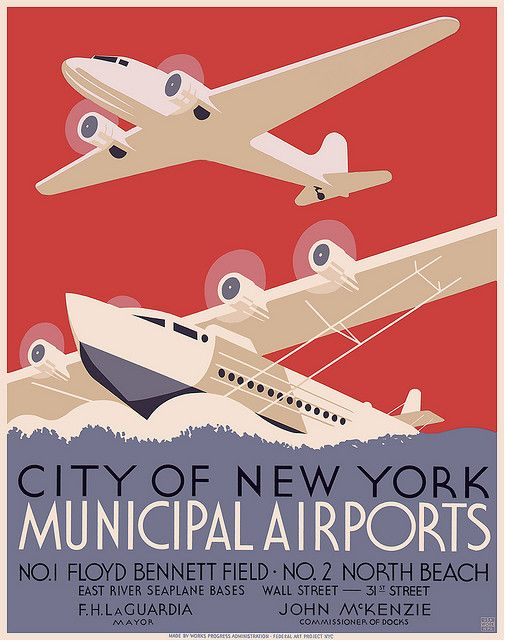 These posters were all created between 1930-1939. You can find out all of the nitty gritty details about them on the Library of Commerce site, as well as download incredibly large copies of them. Below each image is a link to the image's page with a download link and its history.