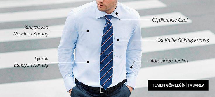 Balmoral Ismarlama Gömlek  Artık internet sitemizden de gömleğinizi çok hızlı ve kolay bir şekilde tasarlayıp sipariş verebilirsiniz.