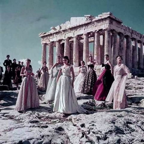 "A beautiful throwback to when Christian Dior fell in love with Greece in 1951. Photo by Jean-Pierre Pedrazzini. Greece said ""NO"" to Gucci Fashion Show for 2M Euro. Click our bio link for full story. #greece #hellas #athens #parthenon #acropolis #greek #greeks #greeklife #greekgirl #visitgreece"