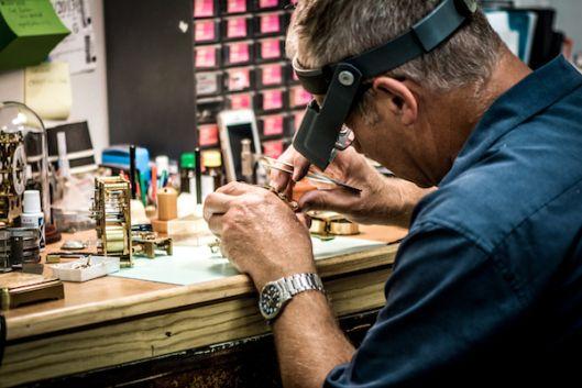 Rod Clark, Watchmaker at Benjamin Black Goldsmiths - Nelson, NZ.