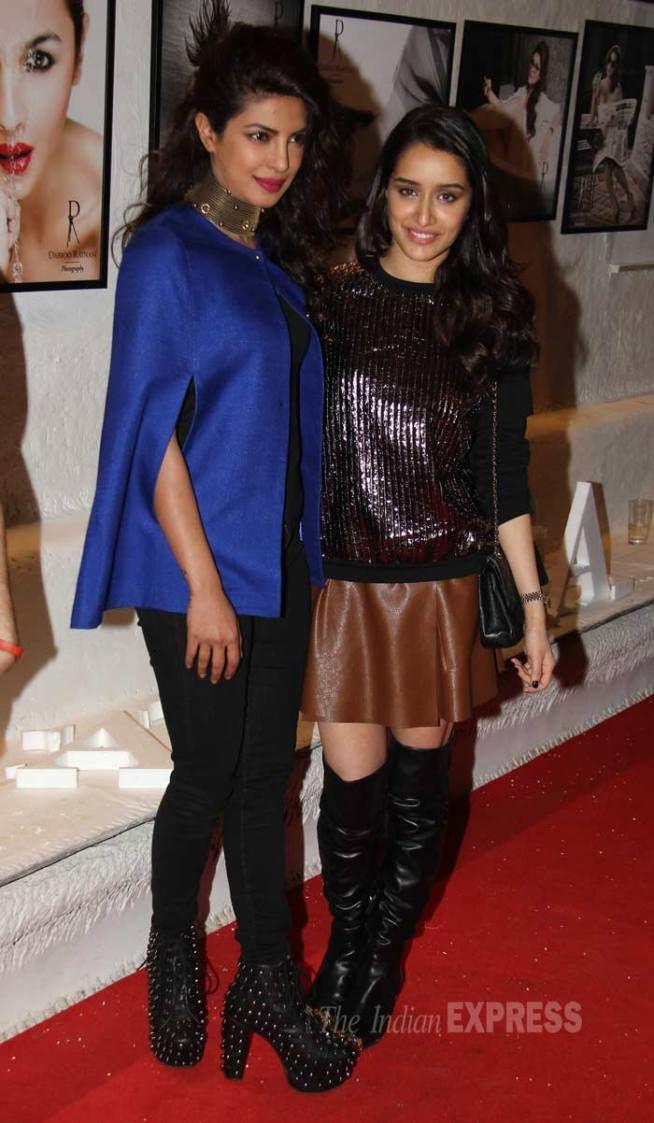 Priyanka Chopra and Shraddha Kapoor at Dabboo Ratnani's 2015 calendar launch. #Bollywood #Fashion #Style #Beauty