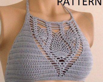 Crochet Bikini Pattern Bikini top PDF Crochet by LOVEKNITCROCHET
