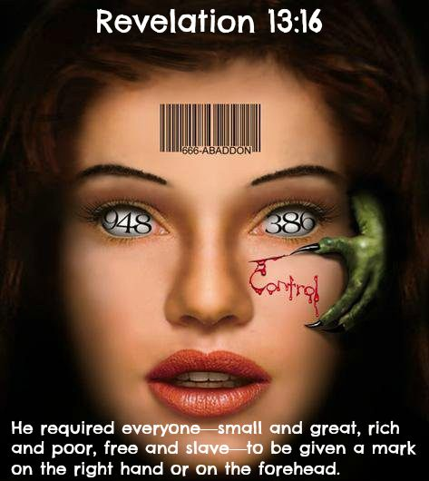 Revelation 13:16 He required everyone—small and great, rich and poor, free and slave—to be given a mark on the right hand or on the forehead. 17 And no one could buy or sell anything without that mark, which was either the name of the beast or the number representing his name. 18 Wisdom is needed here. Let the one with understanding solve the meaning of the number of the beast, for it is the number of a man. His number is 666.