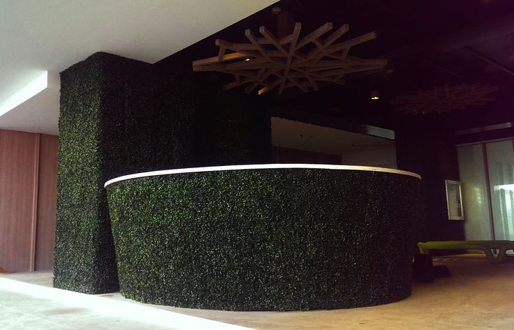 Artificial Boxwood Greenwall @ KL Tower Mosaic in Makati City Philippines