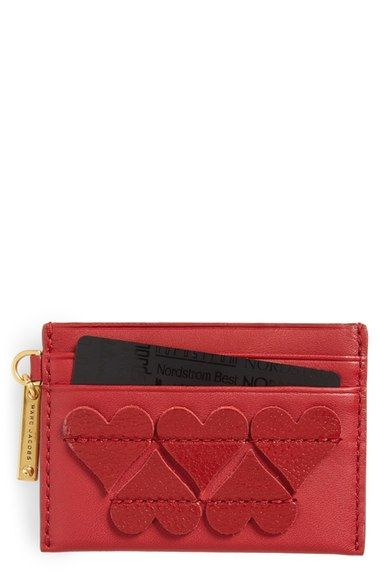 MARC JACOBS Heart Leather Card Case available at #Nordstrom