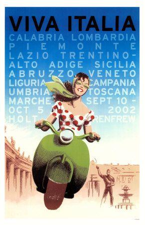 Viva Itália Impressão de alta qualidade