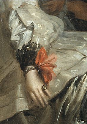 (detail) Painting by Diego Velazquez, 1656, Las Meninas (or The Family of Philip IV, oil on canvas, Museo Nacional del Prado.