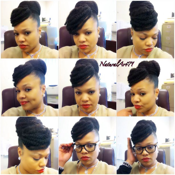 Marley bun with a faux bang!! Aww I love this... How cute is she.. lol