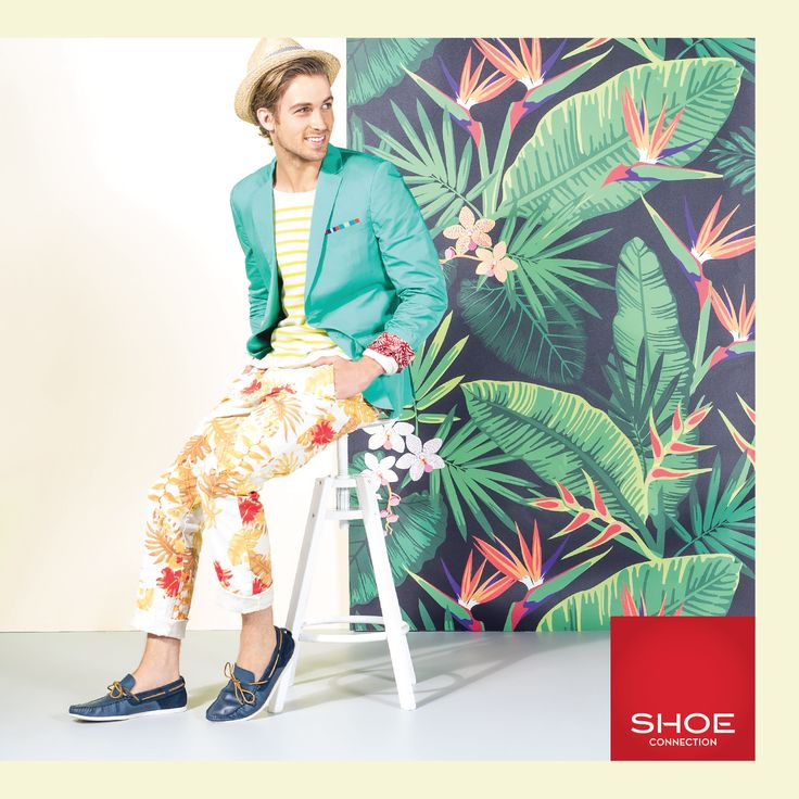 Shoe Connection Spring Summer 14/15 Campaign. Tropical Pattern - Mens Style - Boat Shoes. Shop: http://www.shoeconnection.co.nz/