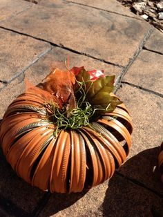 pumpkin from old canning rings                              …