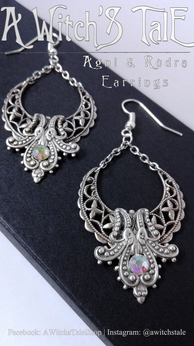Agni and Rudra Earrings by A Witch's Tale by LaceWingedSaby.deviantart.com on @DeviantArt