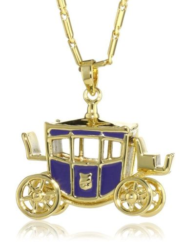 Disney Couture Cinderella's Coach Pendant Necklace