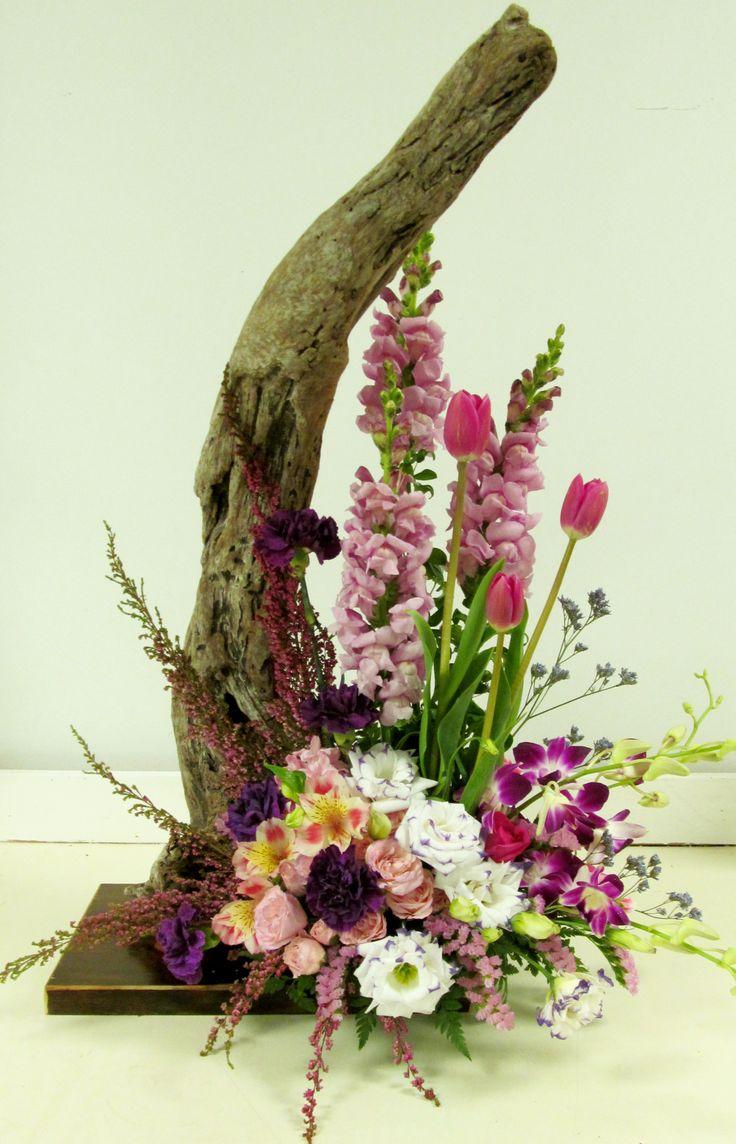 arrangement with driftwood