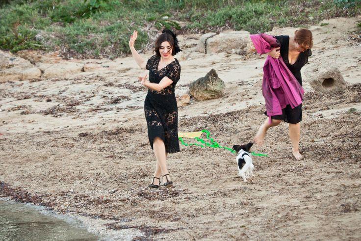 Laura Chiatti e Sabrina Impacciatore in una scena del# film #paneeburlesque #Laura Chiatti e #SabrinaImpacciatore