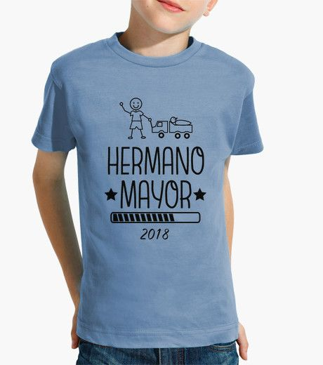 Camiseta Hermano Mayor 2018 azul claro